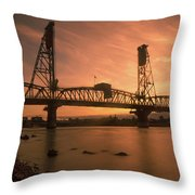 Portland Bridge Throw Pillow