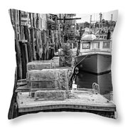 Portland Dock Throw Pillow