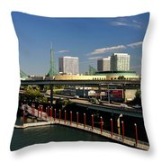 Portland East Bank Throw Pillow