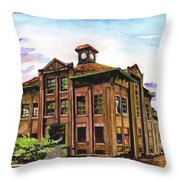Portland Gas And Coke Building Without Border Throw Pillow