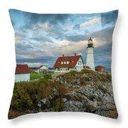 Portland Head Light 8 Throw Pillow