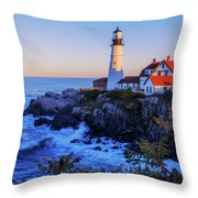 Portland Head Light II Throw Pillow