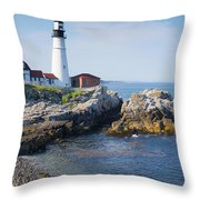 Portland Head Lighthouse Portland Me Throw Pillow