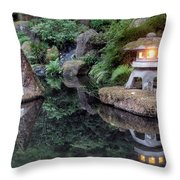 Portland Japanese Garden At Twilight Throw Pillow