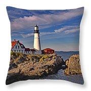 Portland Lighthouse Throw Pillow