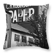 Portland, Maine - Ghost Mural Bw Throw Pillow