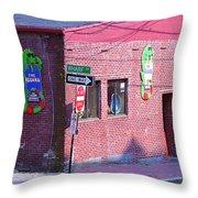 Portland Maine - Wharf Street Throw Pillow