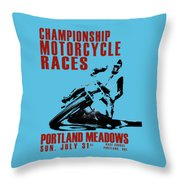 Portland Meadows Throw Pillow