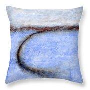 Portland Morning Abstract Throw Pillow