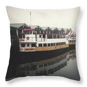 Portland Morning Fog Throw Pillow
