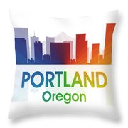 Portland Or Throw Pillow