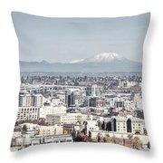 Portland Oregon  Circa 2008 Throw Pillow
