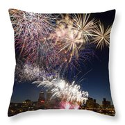 Portland Oregon Fireworks Throw Pillow