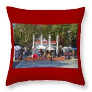 Portland Saturday Market Throw Pillow