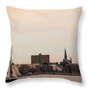 Portland Skyline Throw Pillow