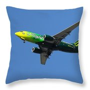 Portland Timbers - Alaska Airlines N607as Throw Pillow by Aaron Berg