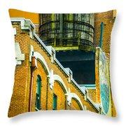 Portland Water Tower II Throw Pillow
