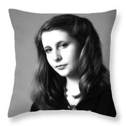 Portland Woman Throw Pillow