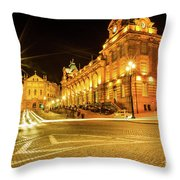 Porto City By Night Throw Pillow