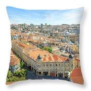Porto Historic Center Aerial Throw Pillow