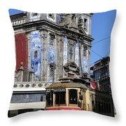 Porto Trolley 1 Throw Pillow