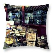 Portobello Road London Junk Shop Throw Pillow