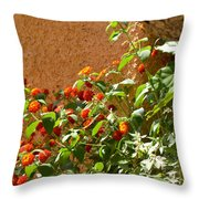 Portofino Flowers Throw Pillow