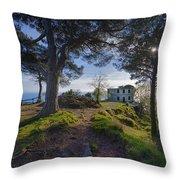 The House Of The Rising Sun In Portofino Throw Pillow