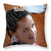 Portrait # 370 Throw Pillow