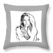 Portrait 4 Throw Pillow