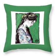 Portrait 6 Throw Pillow