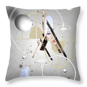 Portrait Abstract Throw Pillow
