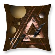 Portrait Abstract3 Throw Pillow