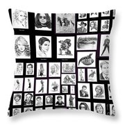 Portrait And Illustrations On Fine Art America Throw Pillow