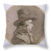 Portrait Bust Of An Unknown Throw Pillow