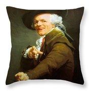 Portrait De L Artiste Sous Les Traits D Un Moqueur 1793 Throw Pillow