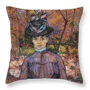 Portrait De Suzanne Valadon Madame Suzanne Valadon, Artiste Peintre 1885 Throw Pillow
