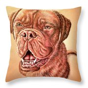 Portrait Drawing Of A Dog Throw Pillow