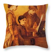 Portrait Group Of The Artists Family Throw Pillow