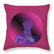 Portrait In Berry 1 Throw Pillow