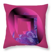 Portrait In Berry 3 Throw Pillow