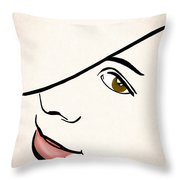 Portrait In Line Throw Pillow