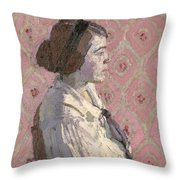 Portrait In Profile Throw Pillow