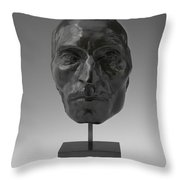 Portrait Mask Of Etienne Carjat Throw Pillow
