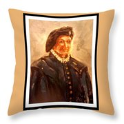 Portrait Of A 15th Century Paige Throw Pillow