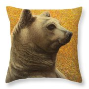 Portrait Of A Bear Throw Pillow