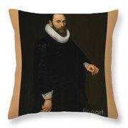 Portrait Of A Bearded Gentleman Throw Pillow