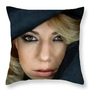 Portrait Of A Beautiful Woman Throw Pillow