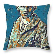 Portrait Of A Boy 24 By Adam Asar -  Asar Studios Throw Pillow