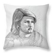 Portrait Of A Boy Throw Pillow